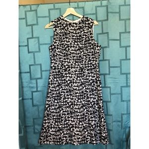 Nine West black and white fit & flare dress